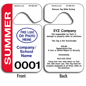 School Parking Hang Tags allow endless design possibilities and project a professional image. These durable School Parking Hang Tags are UV laminated front and back to give you the strongest parking permit available.
