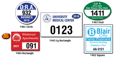 Car parking permits with back adhesive can be used on any outside surface of your vehicles, golf carts, boats or any outdoor equipment.