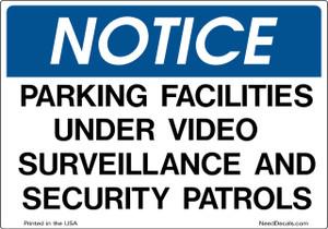 Parking Facilities Security Decals