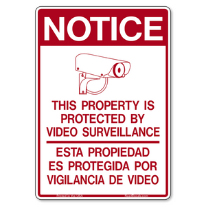 G400 Bilingual Property Protected by Video Surveillance Decals
