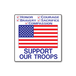 Support Our Troops Stickers - Rolls of 100