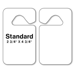 Blank Parking Hang Tags