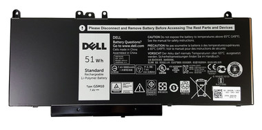 New Dell Original 4 Cell 51Whr Laptop Battery for Dell Latitude E5250 E5450 E5550 Front View