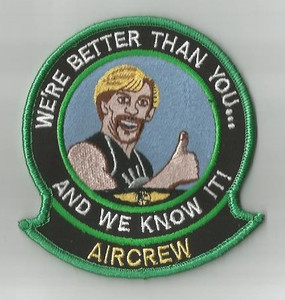We're Better Than You Aircrew patch