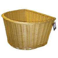 Adie Wicker Bicycle Basket D shape 18 Inch (857)