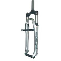 "Suntour 1"" Silver Threaded Suspension Bike Fork, 155mm (6999)"