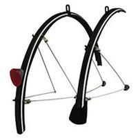 Tortec Reflective Bicylcle Mudguards: Black 700 x 20 - 26 (57915)