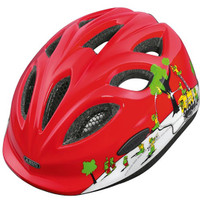 Abus Smiley Helmet: Fire Red M-L 50-55cm