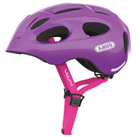 Abus Youn-I Kids Bicycle Helmet Sparkling Purple M-L 52-57CM