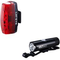 Cateye Volt 80 Front Light & Rapid Micro Rear Light USB Rechargeable Light Set