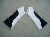 Black/White Combo Leather Arm Chaps