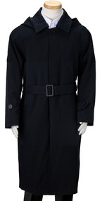Boy's Navy Trench Coat