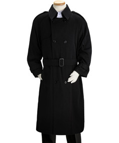 Boy's Black Double Breasted Trench Coat