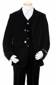 Boy's Black Velvet Suit