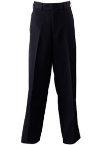 Boy's Navy Husky Dress Pants