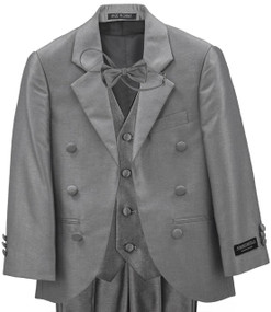 Little Boys Silver Gray Tux Suit