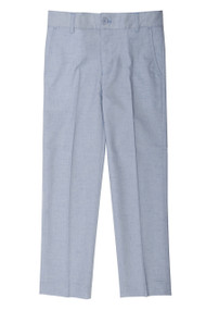 Boy's Slim Fit Light Blue Linen Look Pants