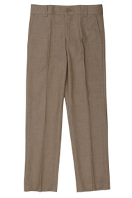 Boy's Slim Fit Camel Linen Look Pants