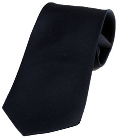 Boy's Solid Navy Zipper Tie 14""