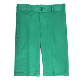 Boy's Casual Shorts Slim Fit Green