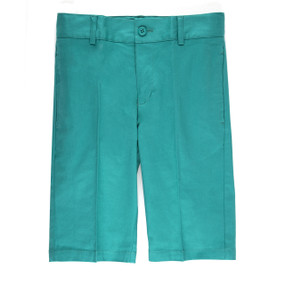 Boy's Casual Shorts Slim Fit Turquoise