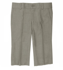 Boy's Formal Dress Shorts Linen Look Light Gray
