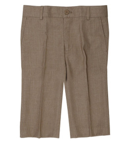 Boy's Formal Dress Shorts Linen Look Camel