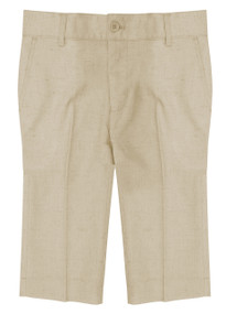 Boy's Formal Dress Shorts Linen Look Beige
