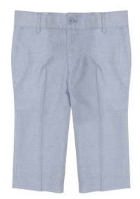 Boy's Formal Dress Shorts Linen Look Light Blue