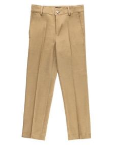 Armando Martillo Boy's Slim Dress Pants - Beige