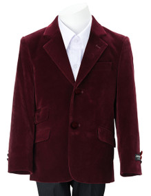Armando Martillo Boys Velvet Blazer Slim fit - Burgundy