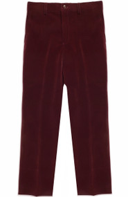 Armando Martillo Boy's Velvet Dress Pants Slim Fit - Burgundy