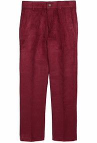 Armando Martillo Boys Suede Dress Pants Slim Fit - Burgundy
