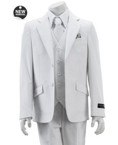 Armando Martillo Boy's 5 Piece Communion Suit Slim Fit - White