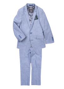 Appaman Boy's Sky Slub Light Blue Suit