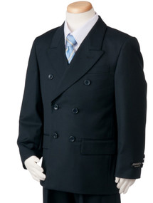 Boy's Navy Double Breasted Suit