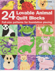 24 Lovable Animal Quilt Blocks Front Cover