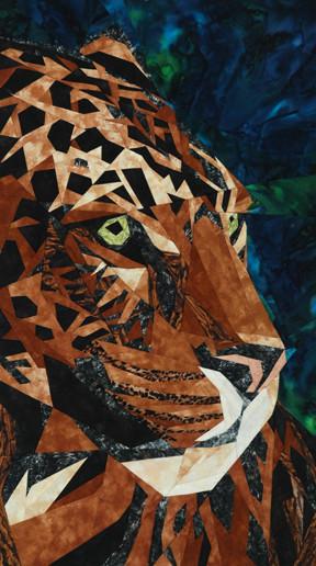 Jaguar Paper Piecing Quilt Block