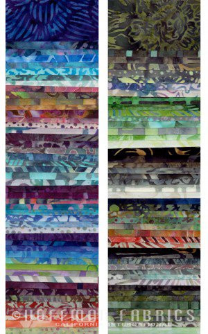 Bali Pops By Hoffman Fabrics Pre Cut Batik Fabric Strips