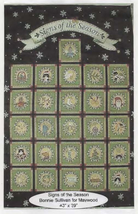 Signs of the Season Fabric Panel