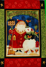 Santa & Snowman Wall Quilt Panel