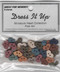 """Folk Art Miniature Hearts – A collection of Miniature Hearts – 1/2"""" wide - 6 of each color – sew through holes."""