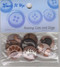 """Raining Cats & Dogs – A collection of dog & cat themed sew through buttons – 3/4""""."""