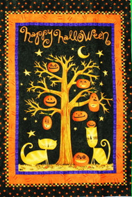 "Happy Halloween Wall Quilt Panel - 42"" x 29"" Approximately"