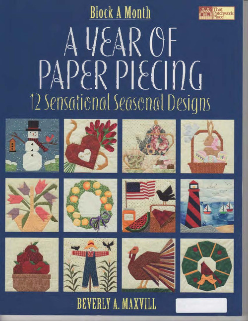 A Year of Paper Piecing Front Cover