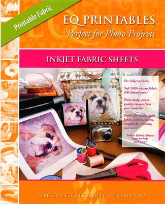 EQ Printables Inkjet Fabric Sheets for Quilting Front Cover