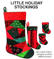 Little Holiday Stockings Tissue Foundation Paper Piecing Project