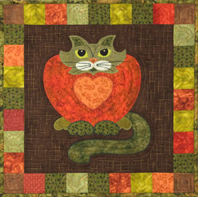 Purrsimmon Applique Block