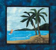 Tropical Scene Quilt Block