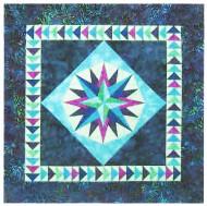 Mariner's Compass Paper Piecing Quilt
